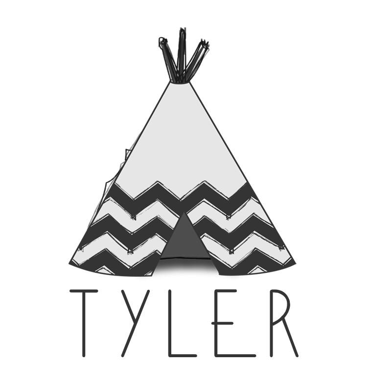 Teepee Baby Name Tee - Tyler
