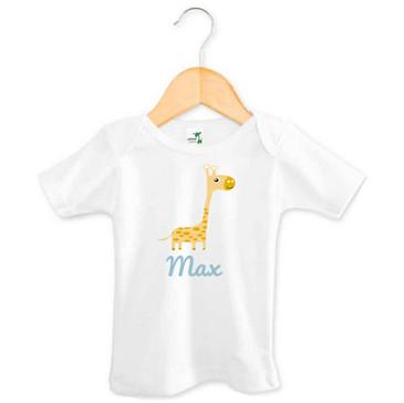 Personalised Baby Name Giraffe Tee