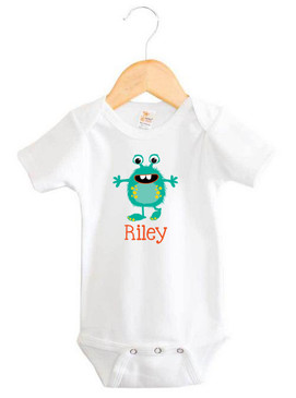 Personalised baby name onesie - Riley