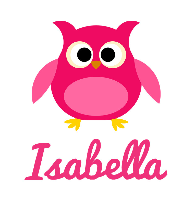Girl S Name Pink Owl Baby Tee Personalised Baby Products