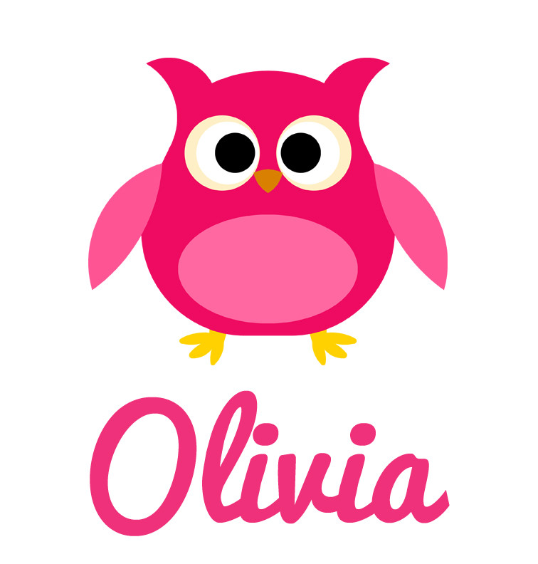 Girl Name Pink Owl Baby Onesie Personalised