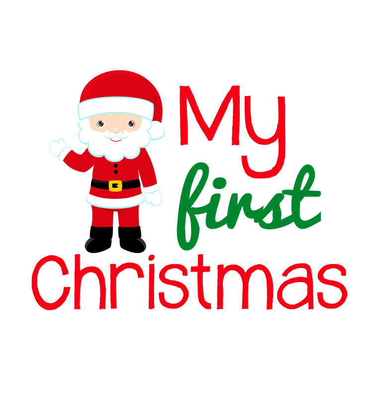 my first christmas santa onesie custom made baby purchase clipart and fonts purchasing clipart