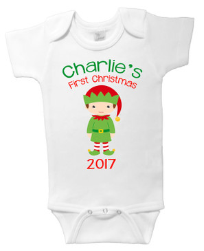 Personalised First Christmas Elf Onesie