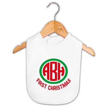 Personalised Monogram Christmas Bib