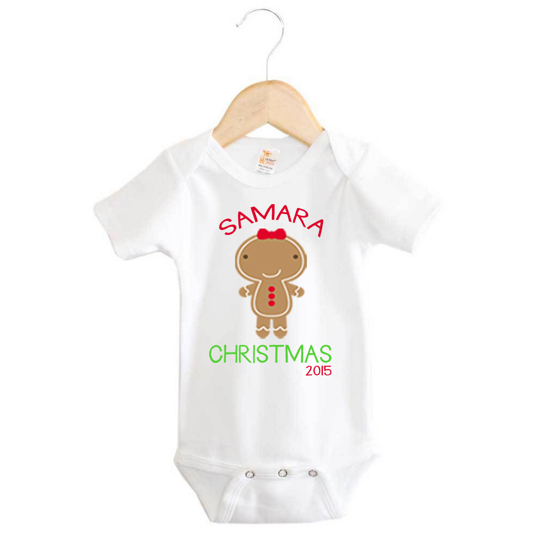 Baby name gingerbread girl christmas onesie personalised baby personalised christmas onesie gingerbread girl 2015 negle Gallery
