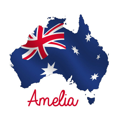 Personalised Australian Flag Onesie Baby Name Products