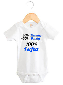 Baby Boy 100% Perfect Short Sleeve Onesie