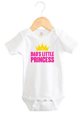 Dad's Little Princess Baby Onesie
