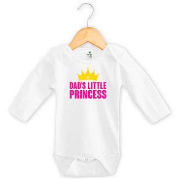 Dad's Little Princess Long Sleeve Onesie