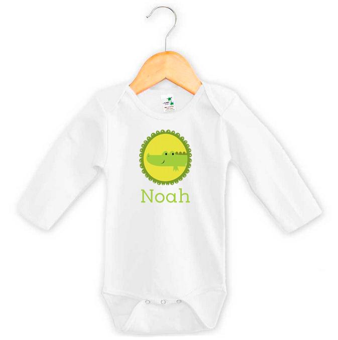Crocodile baby name onesie personalised baby gifts word on baby personalised baby name crocodile onesie negle Gallery