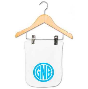 Personalised Baby Monogram Burp Cloth - GNB