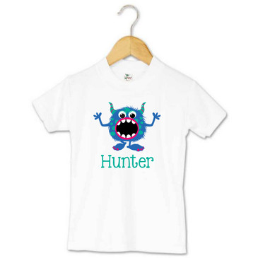 Personalised Monster Toddler Tee - Hunter