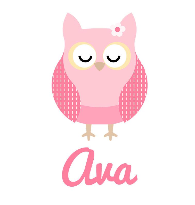 Girl's Name Pink Sleeping Owl Blanket | Personalised ...