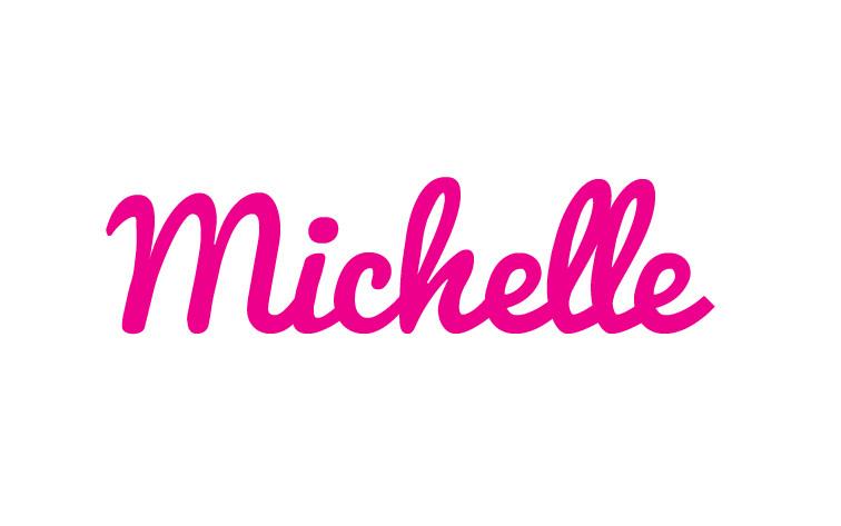 Pink Cursive Baby Name Blanket