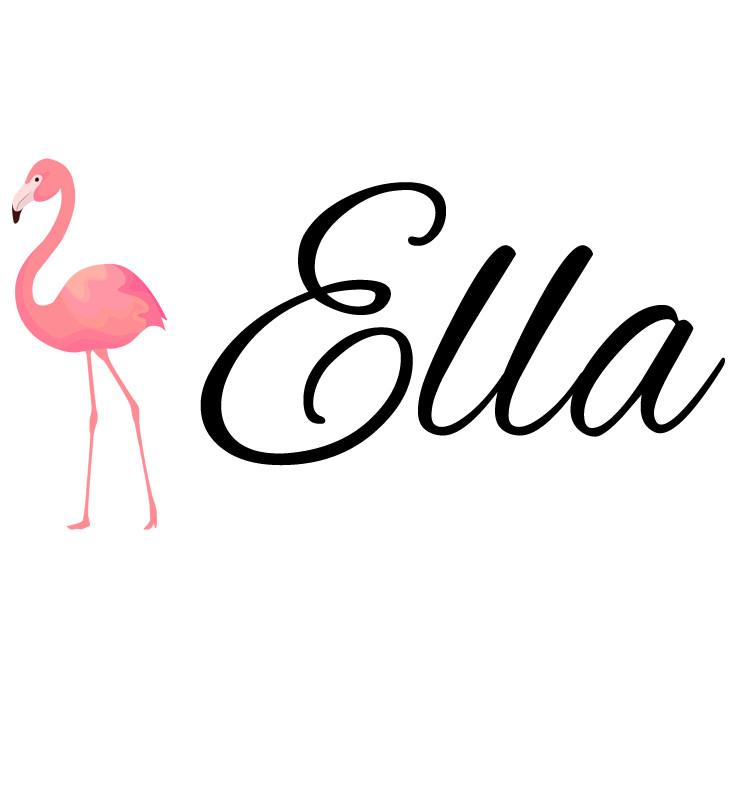 Pink Flamingo Baby Name Onesie | Personalised Baby ...