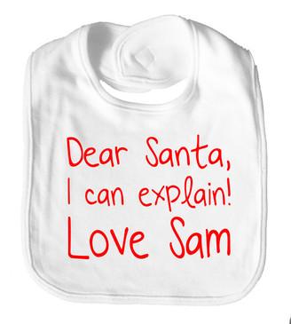 Dear Santa I Can Explain Bib - Sam