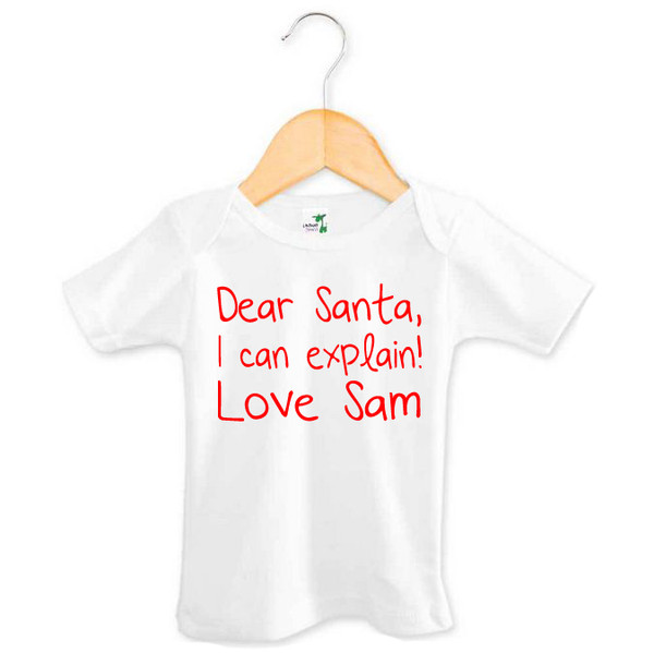 Dear Santa I Can Explain Love Tee Personalised Baby