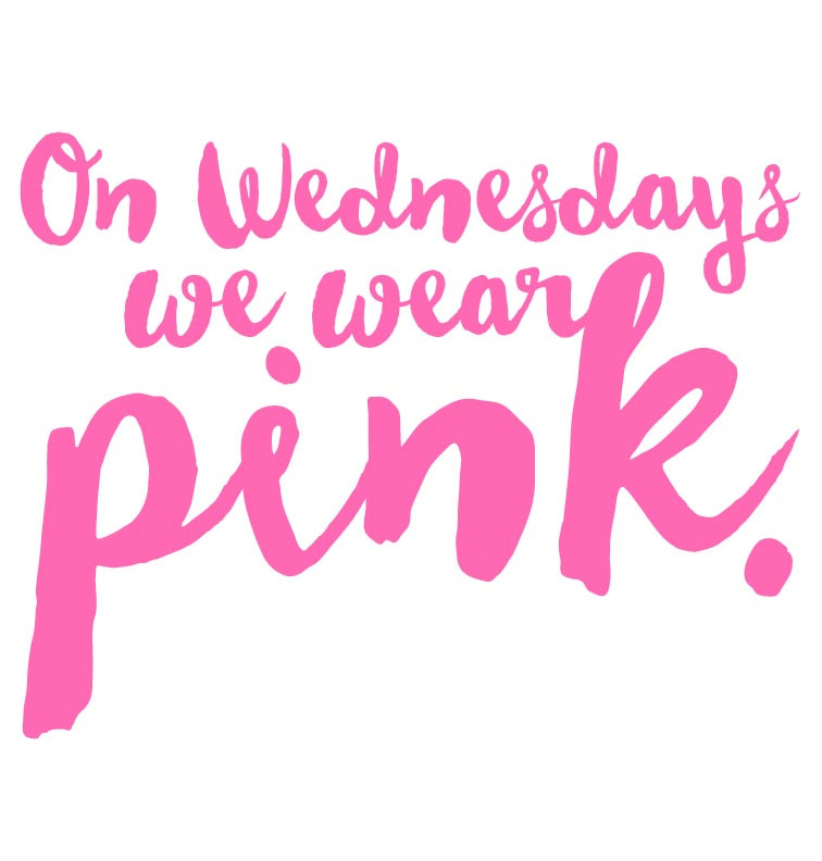 On Wednesdays We Wear Pink Toddler Tee Cutomised Baby
