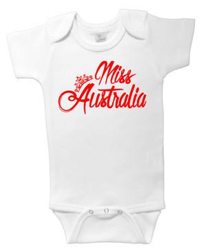 Miss Australia baby onesie
