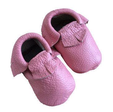 Word On Baby - Candy Pink Moccasins
