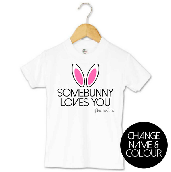 somebunny loves you toddler tee personalised products word on baby. Black Bedroom Furniture Sets. Home Design Ideas