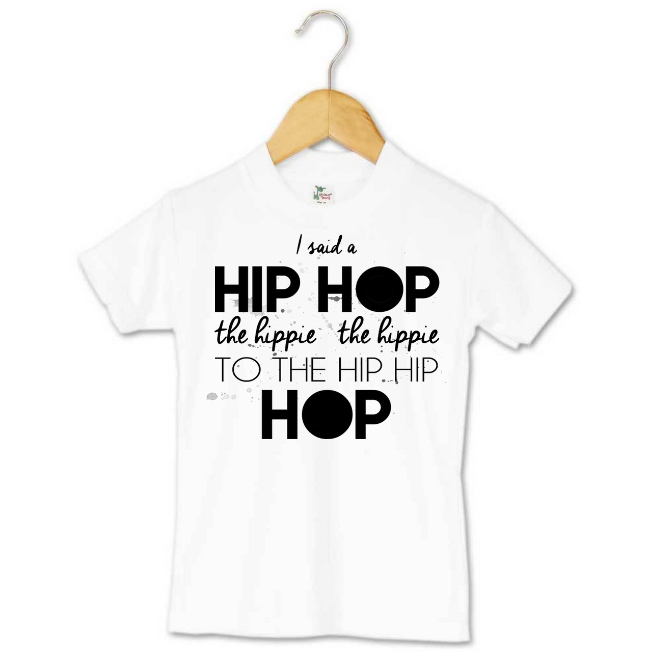 Hip hip hop toddler tee custom clothing word on baby for Toddler custom t shirts no minimum