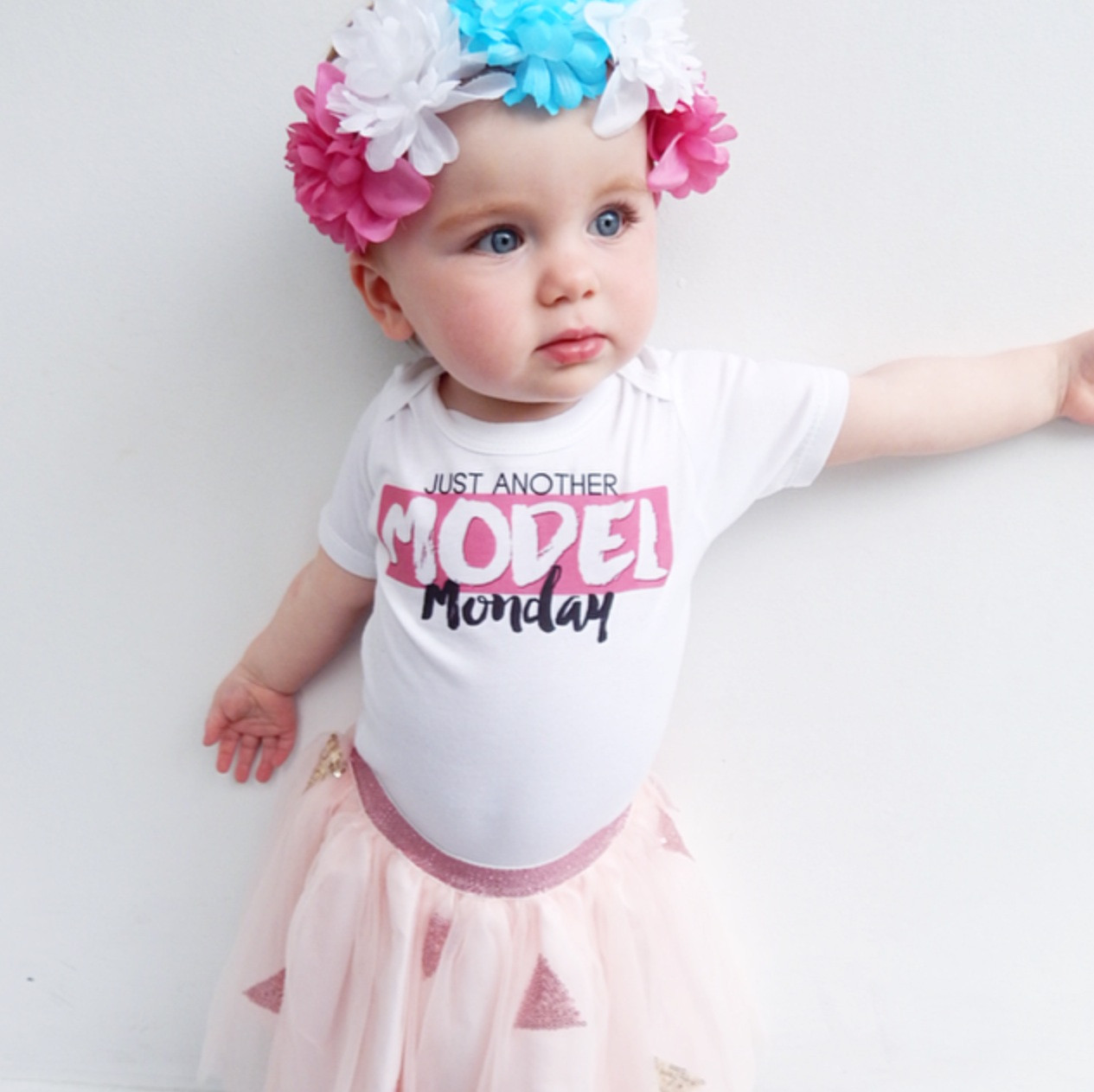 Just Another Model Monday Baby Tee Custom Baby Clothing