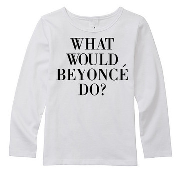 What would Beyonce do? long sleeve toddler top by Word On Baby