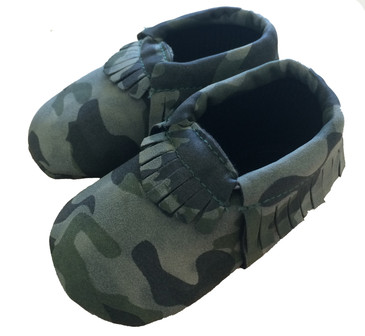 Camo Green Baby Moccasins