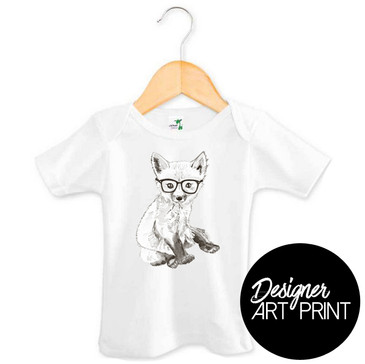 Frederick the Fox Baby T-shirt by Clare Spelta