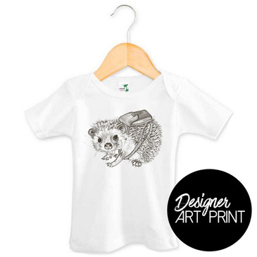Hamish the Hedgehog Baby T-shirt by Clare Spelta