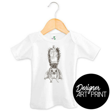 Stevie the Squirrel Baby T-shirt by Clare Spelta