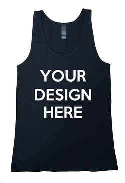 Design Your Own Women's Black Tank Singlet