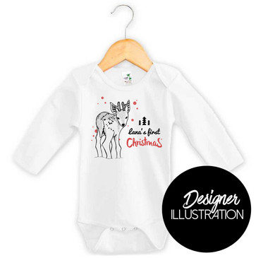 Personalised First Christmas Reindeer Onesie