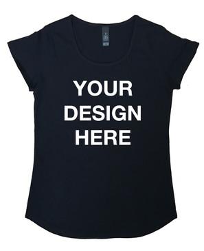 Design Your Own Women's Black Tee