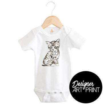 Pretty Kitty Art Baby Onesie