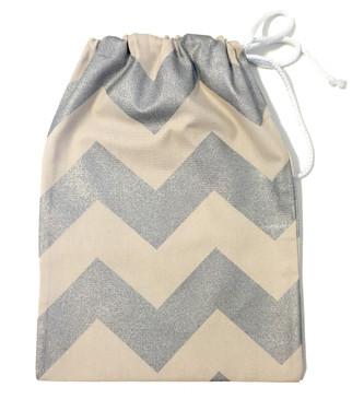 Silver chevron gift bag