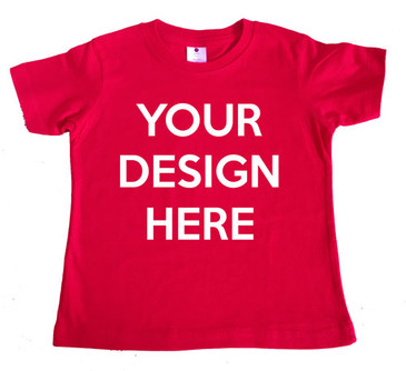 Design your own red boy's tee