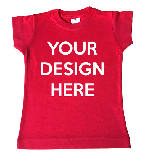 Design Your Own Girl 39 S Red T Shirt Personalised Products