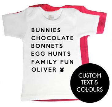 Personalised Easter List Baby Tee