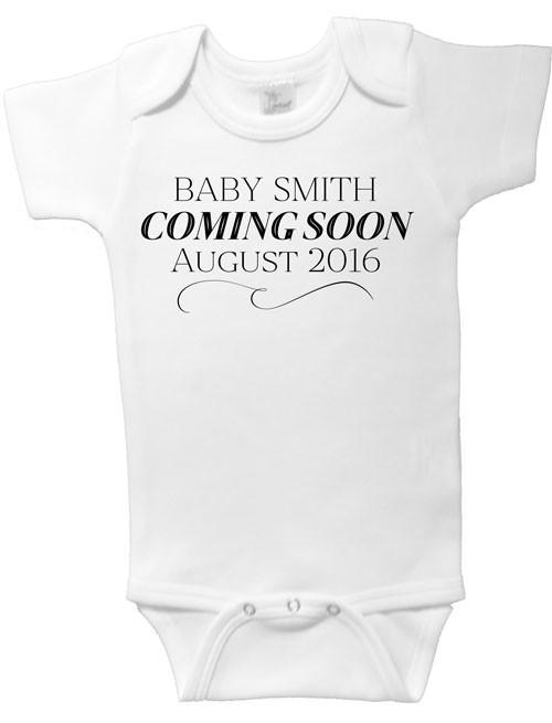 Baby Coming Soon Announcement Onesie