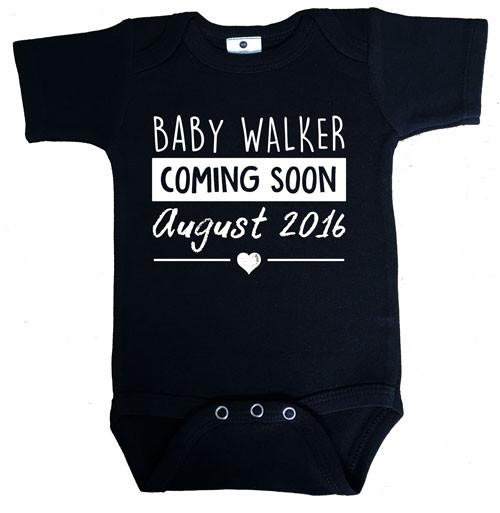 Custom pregnancy announcement onesie