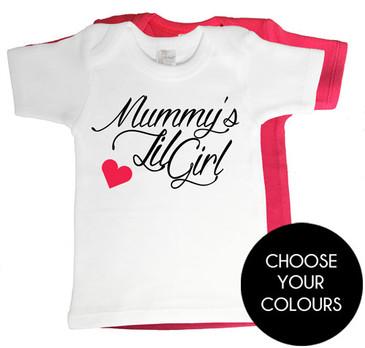 Mummy's Lil Girl Baby Tees