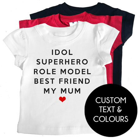 MY MUM custom kids tee