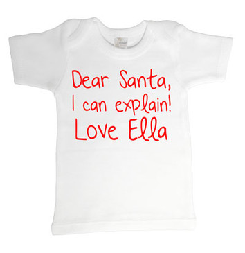 SALE Dear Santa Love Ella Tee - 3-6M