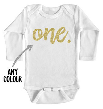 Faux Gold Glitter One Long Onesie