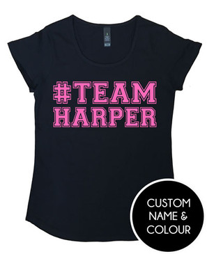 Personalised #TEAM NAME t-shirt for Mum