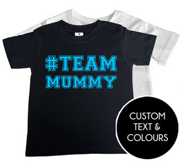 Personalised #TEAM t-shirt