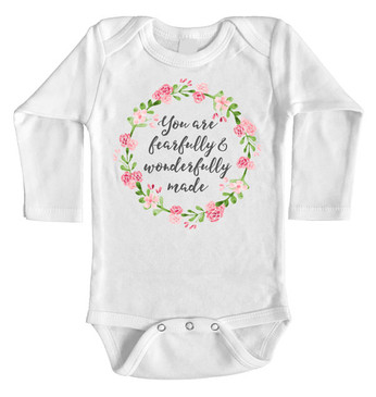 You are fearfully and wonderfully made onesie