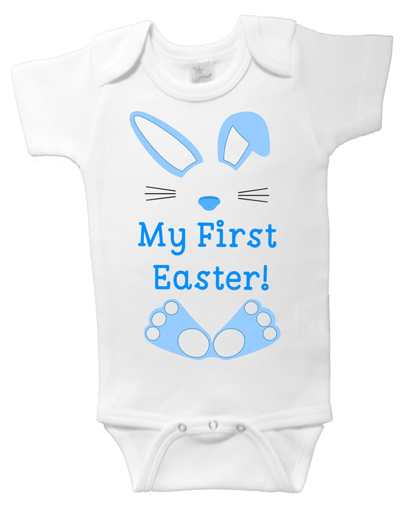 My First Easter Onesie Blue Bunny